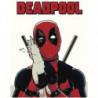 Дэдпул Deadpool 100х125 Раскраска картина по номерам на холсте