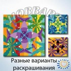 Мандала 020 Раскраска акриловыми красками на холсте Hobbart