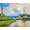 Зальцбург. Австрия Раскраска картина по номерам на холсте