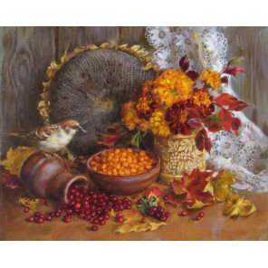 Осенний натюрморт Раскраска картина по номерам на холсте GX31208