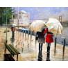 Под дождем Раскраска картина по номерам на холсте