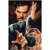 Доктор Стрэндж 100х150 Раскраска картина по номерам на холсте