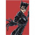Женщина кошка catwoman Раскраска картина по номерам на холсте