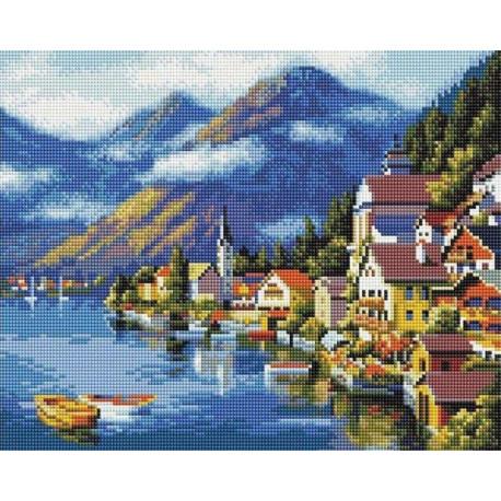 Хальштадт. Австрия Алмазная мозаика на подрамнике GF0230