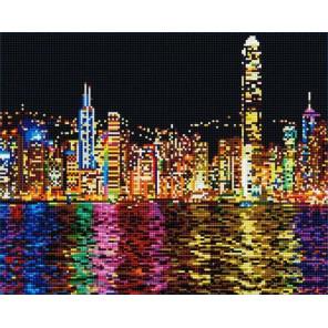 Ночной Гонконг Алмазная мозаика на подрамнике GF0536
