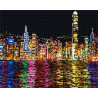 Ночной Гонконг Алмазная мозаика на подрамнике