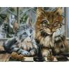 Кот ученый Алмазная мозаика на подрамнике