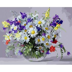 Луговые цветы Алмазная мозаика на подрамнике GF3625