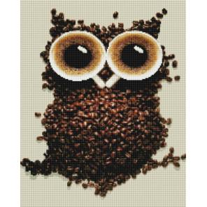 Кофейная сова Алмазная мозаика на подрамнике GF3829