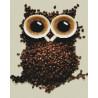 Кофейная сова Алмазная мозаика на подрамнике