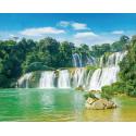 Величественный водопад Алмазная мозаика на подрамнике