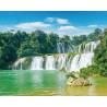 Величественный водопад Алмазная мозаика на подрамнике LG202