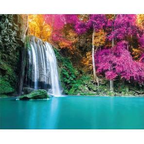 Водопад на озере Алмазная мозаика на подрамнике LG207