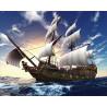 На парусах по ветру Алмазная мозаика на подрамнике