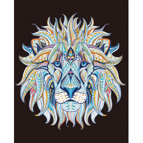 Этнический лев Алмазная мозаика на подрамнике LG213