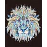 Этнический лев Алмазная мозаика на подрамнике