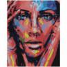 Лицо радужной девушки Раскраска картина по номерам на холсте