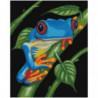 Синяя лягушка 80х100 Раскраска картина по номерам на холсте