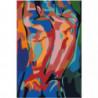 Мужчина. Абстракция 80х120 Раскраска картина по номерам на холсте