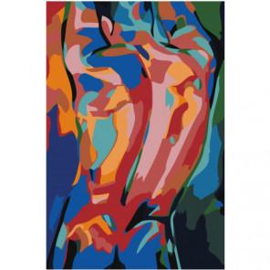 Мужчина. Абстракция 100х150 Раскраска картина по номерам на холсте