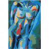 Синий спектр Раскраска картина по номерам на холсте