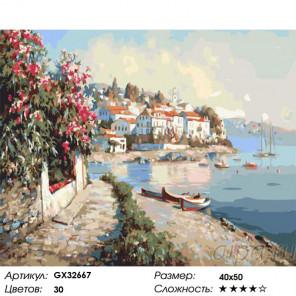 Сложность и количество цветов Южная бухта Раскраска картина по номерам на холсте GX32667