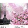 Весенний Париж Раскраска картина по номерам на холсте