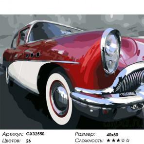 Сложность и количество цветов Ретро-автомобиль Раскраска картина по номерам на холсте GX32550