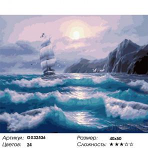 Сложность и количество цветов Начинающийся шторм Раскраска картина по номерам на холсте GX32536
