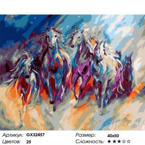 Сложность и количество цветов Табун Раскраска картина по номерам на холсте GX32457