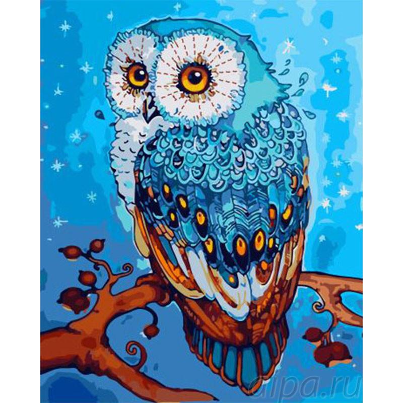 GX32874 Зимняя сова Раскраска картина по номерам на холсте ...