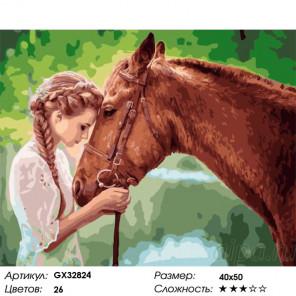 Сложность и количество цветов Лучший друг Раскраска картина по номерам на холсте GX32824