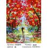 Осенняя прогулка Раскраска картина по номерам на холсте