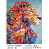 Красочный лев Раскраска картина по номерам на холсте