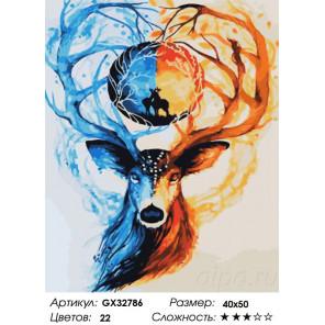Сложность и количество цветов Мир оленя Раскраска картина по номерам на холсте GX32786