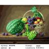 Натюрморт из южных фруктов Раскраска картина по номерам на холсте