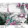 Парижский балкончик Раскраска картина по номерам на холсте