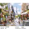 Яркая парижская весна Раскраска картина по номерам на холсте