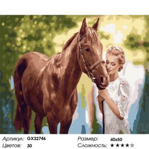 Сложность и количество цветов Любимая лошадь Раскраска картина по номерам на холсте GX32746
