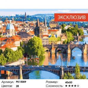 Сложность и количество цветов Мосты Праги Раскраска картина по номерам на холсте PK15009