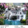 Каскад водопадов Раскраска картина по номерам на холсте