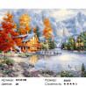 Осенний домик в горах Раскраска картина по номерам на холсте