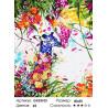 Цветные жирафы Раскраска картина по номерам на холсте