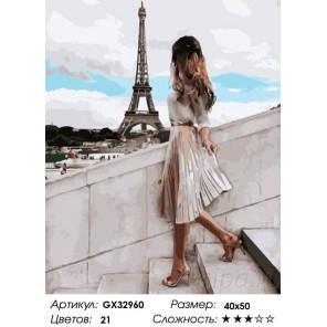 Сложность и количество цветов Легкость Парижа Раскраска картина по номерам на холсте GX32960