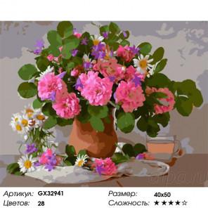 Сложность и количество цветов Букет из своего сада Раскраска картина по номерам на холсте GX32941