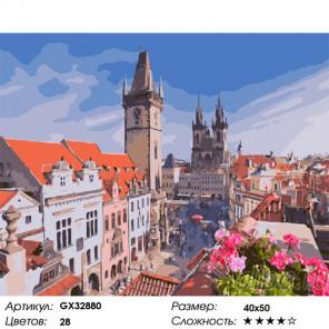 Прага Раскраска картина по номерам на холсте GX32880