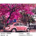 Сложность и количество цветов Весенний ретромобиль Раскраска картина по номерам на холсте GX32366