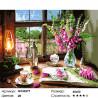 Аромат цветов и чая Раскраска картина по номерам на холсте