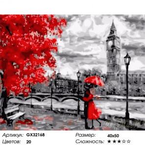 Сложность и количество цветов Свидание у Темзы Раскраска картина по номерам на холсте GX32168