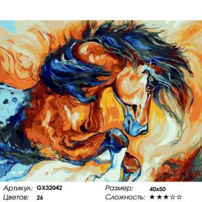 Сложность и количество цветов Сила коня Раскраска картина по номерам на холсте GX32042